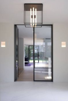 While a glass door competes tightly in a home décor realm, here's how to choose the right glass door design that'll fit your house. Door Design, House Design, Steel Frame Doors, Interior Minimalista, Windows And Doors, Steel Windows, Sash Windows, Interiores Design, Interior Architecture