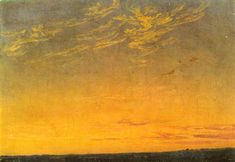 Abend mit Wolken English Title - Evening with clouds Painting by Caspar David Friedrich. Commission a beautiful hand painted reproduction of Abend mit Wolken English Title - Evening with clouds. Caspar David Friedrich Paintings, Casper David, Christian Morgenstern, Wilhelm Busch, Nocturne, Landscape Paintings, Landscapes, Sky Landscape, Les Oeuvres