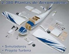 2.380 plantas de aeromodelos + brindes + frete grátis