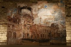 Valery Koshlyakov, Le Louvre Louvre, Russian Painting, Vanishing Point, Ap Art, Architectural Features, Built Environment, Elements Of Art, Mixed Media Collage, Beautiful Paintings