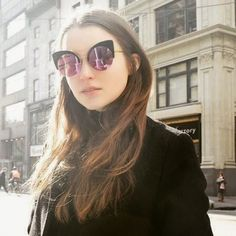 HUGE ROUND MIRROR CAT EYE SUNGLASSES Alley cat Oversized round cat eye sunglasses with flat top bar. Gorgeous mirror lenses. Really huge cool frames! Choose from pink yellow lens, blue lens or tortoise with blue lens.   100% UVA/UVB protection. Accessories Sunglasses