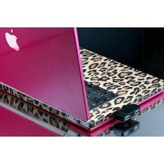 PINK/LEOPARD case apple, computer, fashion, girly, laptop
