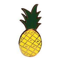 """Available for a limited time only our pineapple lapel pin is perfect for your jacket, bag, and to be paired with our other pins!! Pineapple Pin! Measures 1.25""""h."""