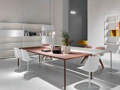 Mesa rectangular de cemento ROBIN by MDF Italia diseño Robin Rizzini, Fattorini + Rizzini + Partners