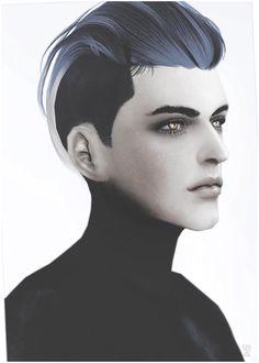 Black-le: Newsea`a Next hairstyle converted  - Sims 4 Hairs - http://goo.gl/J9fL9J