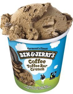 Ben & Jerry's Coffee Toffee Bar Crunch ice cream is not only delicious, it's Fairtrade certified and sourced with non-GMO ingredients.
