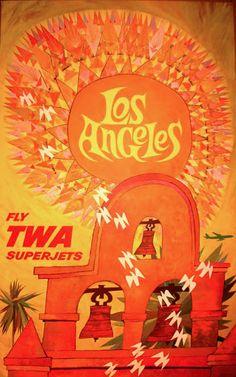 David Klein (1918–2005), Fly TWA Superjets, Los Angeles.