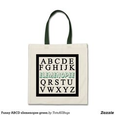 Funny ABCD elemenopee Tote Bag. Teachers gift, school bag, style shoppers .........get yours