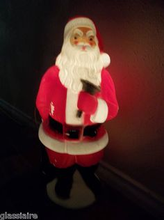 Vintage Empire Blow Mold SANTA With Bag And BELL