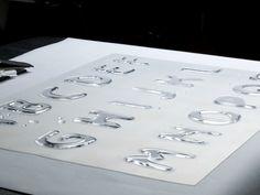 Hydrophobic Typography by Pamela Lama, via Behance Logan, Typography, Behance, Water, Letterpress, Gripe Water, Letterpress Printing, Fonts, Printing
