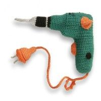 Love! A knitted powerdrill!
