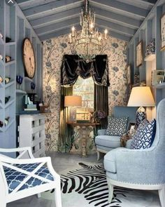 Most Darling She Sheds! Darling She Sheds for every girl! Dream spaces for women. Must see these cute houses!Darling She Sheds for every girl! Dream spaces for women. Must see these cute houses! Shed Interior, House, Shed Decor, Home, Interior, Shed Design, Shabby Chic Outdoor Decor, Woman Cave, Home Decor