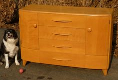 """Heywood Wakefield Credenza Buffet Early Form C3708 Wheat Produced between 1940-1942      Measures 52"""" wide by 19"""" deep by 35"""" high"""