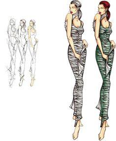 Учимся рисовать fashion-эскиз. Урок 18. Fashion дизайн