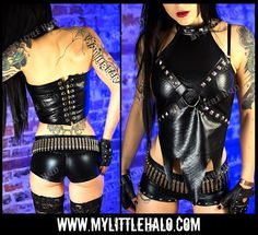 Snakeskin Faux Leather Harness Top -My Little Halo http://mylittlehalo.com/