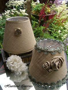 neat embellished lampshades from one of my favorite stores...Heartland Interiors