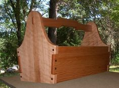 "Custom Made Greene & Greene Garden Tool Tote  19"" long, 12"" tall and 9"" wide."