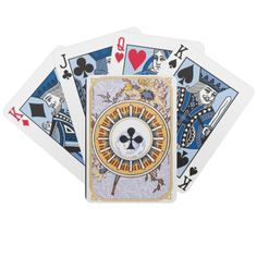 Deck of Cards with a nice vintage Club design, cards in blue