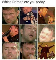 which damon albarn are ya today? Sarah Andersen, Gorillaz, All Bran, Johnny Marr, Damon Albarn, Martin Gore, Jamie Hewlett, Britpop, Music Memes