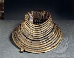 S, Poland. Celtic civilization. Hallstatt culture. Necklace in bronze from Mzowino