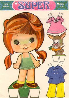 The Paper Dolls of Laura Paper Doll Craft, Doll Crafts, Paper Crafts, Cardboard Paper, Paper Toys, All Paper, Paper Art, History Of Paper, Kawaii Doodles