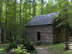John Ownby Homestead Cabin, Smokey Mountains, Tennessee  Built in early 1800's