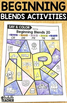 Practice beginning blends worksheets. Say and Color Blends incorporate images, writing, and coloring printables. blends activities   learning blending sounds   letter sounds   letter blends worksheets   teacher printables kindergarten   first grade reading