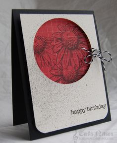 All stamps by Stampendous! Happy Birthday sticker sentiment by SRM.