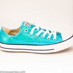 043db82ff63b Comfy Shoes for the wedding Mediterranean Blue Glitter Canvas All Star Lo  Top by princesspumps