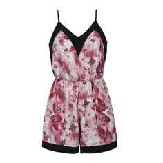 Playsuit with abstract floral print.