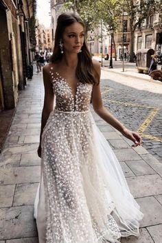 Floral dream   #MUSEbyBERTA Lace Beach Wedding Dress, Weeding Dress, Gorgeous Wedding Dress, Princess Wedding Dresses, Dream Wedding Dresses, Bridal Dresses, Wedding Gowns, Prom Dresses, Ugly Dresses