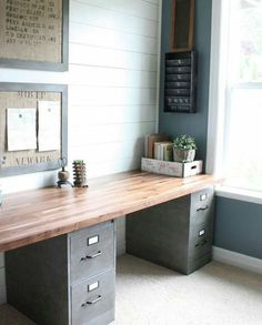 Home Office Filing Cabinets . Home Office Filing Cabinets . Trash to Treasure Upcycled Metal Paper organizer Home Office Space, Home Office Design, Home Office Decor, Office Furniture, Diy Furniture, Home Decor, Office Designs, Office Table, Rustic Office Desk