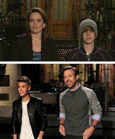Bieber on Saturday Night Live <3