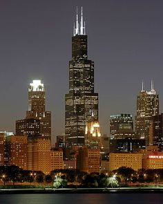 Sears Tower, Chicago. It was a very cool experience. When I visited it, it was the tallest building in the world.