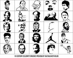 25 photoshop XX century celebrity brushes preview by saltaalavista blog