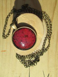 woodbine leaf necklace pressed leaf jewelry by LisaDecorGifts