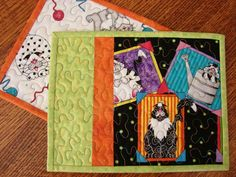 Sassy Kitty Cat Mug Rug Snack Mat Place Mat Pair by susiquilts, $18.00