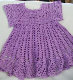 Chroschet baby girl dresses | Crochet Baby Dress, Baby Girl Dress, Lavender, Handmade, Custom Made