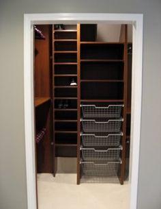 Smart tiny walk-in closet