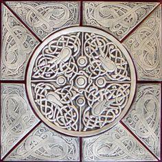 Celtic ceramic tile set from earthsongtiles.com