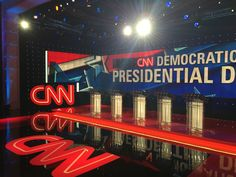CNN U.S. Democratic Presidential Nomination Debates 2016 For the first Democratic Debate of the 2016 election season, Clickspring transformed nearly 16,000 square feet of the Lafite Ballroom at the Wynn in Las Vegas into a 360° experience hosted by Anderson Cooper, for 1400 live-audience members as well as the millions viewing at home.