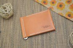 Leather Money clip/Horween Leather Minimalist by KernezLeatherUSA