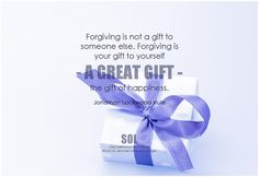Forgiving is not a gift to someone else. Forgiving is your gift to yourself - a great gift - the gift of happiness. - Jonathan Lockwood Huie #forgiveness #quote #inspirational #inspirationalquote #inspirationalwords #picturequote #picture