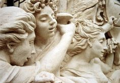 Detail of Cupid and Psyche, this original sculptural composition was created in cast stone and the surface belies the fact that the sculpture was light enough to attach to a wood-frame structure. Photo Courtesy of Kurt Wenner. Featured in the fall 2015 issue of Santa Barbara Seasons Magazine. http://sbseasons.com/V2jl0 #sbseasons #sb #santabarbara #SBSeasonsMagazine #KurtWenner  To subscribe visit sbseasons.com/subscribe.html