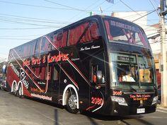 Busscar Panorâmico DD, con chasis Volvo B12R. Buses Talca París & Londres Volvo, Star Bus, Luxury Bus, Bus Coach, Busse, House On Wheels, Caravans, Big Trucks, Motorhome