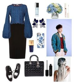 """""""Untitled #125"""" by taeyan-park on Polyvore featuring River Island, Pepa Pombo, Christian Dior, Marc Jacobs, Yves Saint Laurent, Casetify, Fantasia, Diane James and Chanel"""