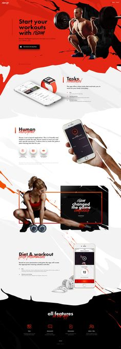Workout Website – Dynamic Ui design concept.
