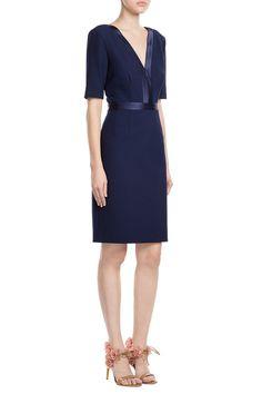 Dress mit Satin-Details - Diane von Furstenberg | WOMEN | DE STYLEBOP.COM