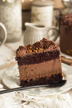 tarta de chocolate y cheesecake de chocolate