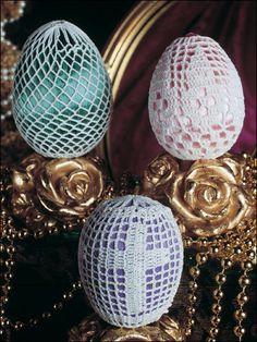 Crochet covered Easter eggs!